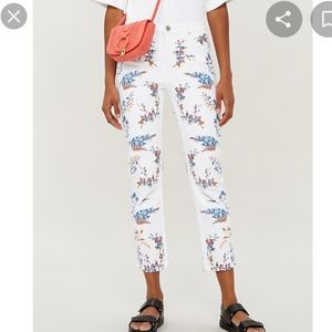 Maje pia jeans mid rise floral embroidered skinny size 38 bnwt
